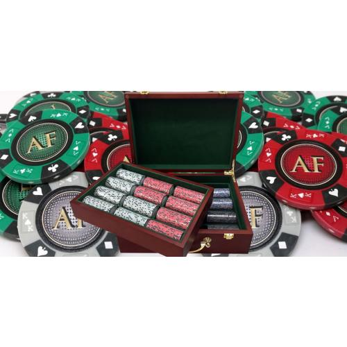 14 Gram Ace King & Suits Clay Poker Sets