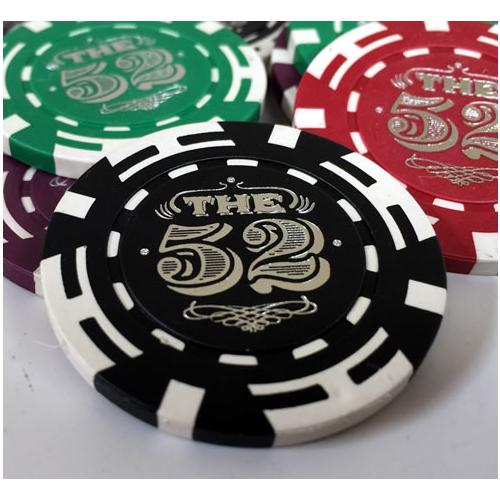 Custom Hot Foil Stamped Poker Chips