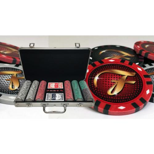 Custom Aluminum Case Poker Sets With 13 Gram Infinity Style Clay Chips