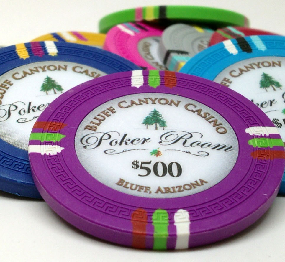 13.5 Gram Bluff Canyon Clay Poker Chip