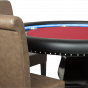 The Ginza Poker Table With Premium Lounge Chairs Side View Closeup