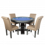 The Ginza Poker Table With Premium Lounge Chairs