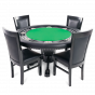 The Nighthawk Poker Table With Black Dining Chairs
