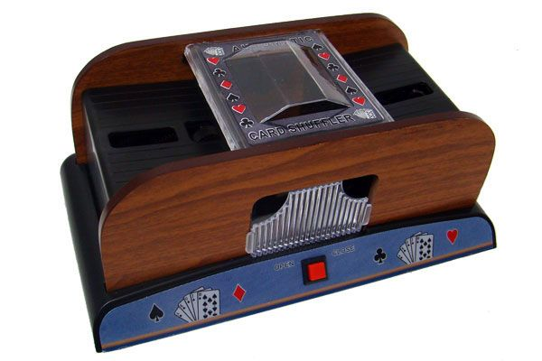2 Deck Wooden Deluxe Card Shuffler