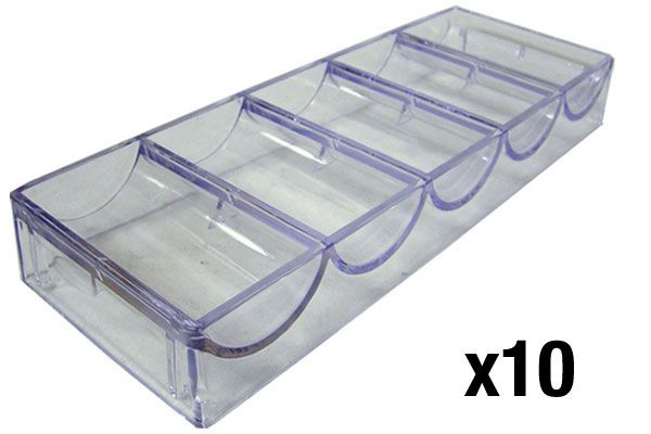 Acrylic Chip Tray 68mm - Pack of 10 (For Paulson & Most Ceramic Chips)