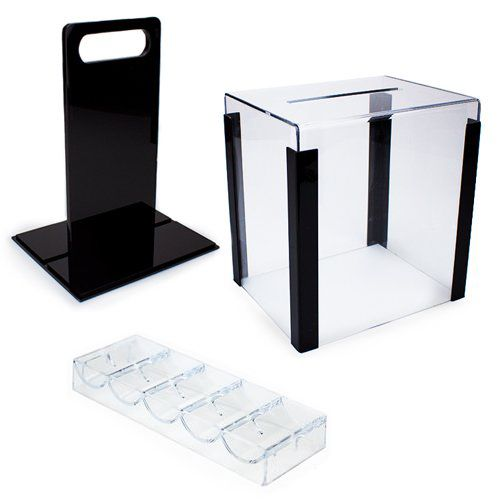 1000 Capacity Acrylic Poker Chip Carrier With Trays