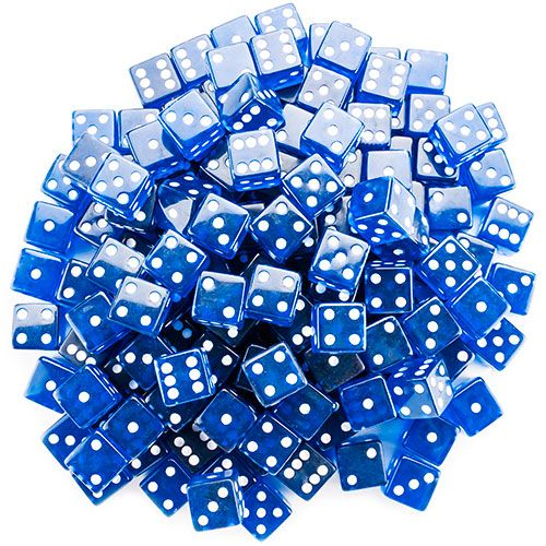 100 Blue 19mm Dice