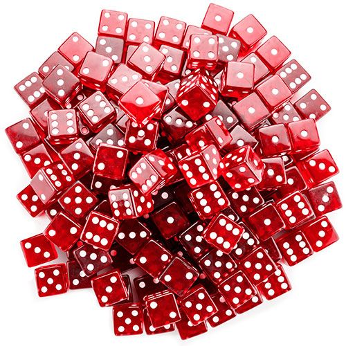 100 Red 19mm Dice