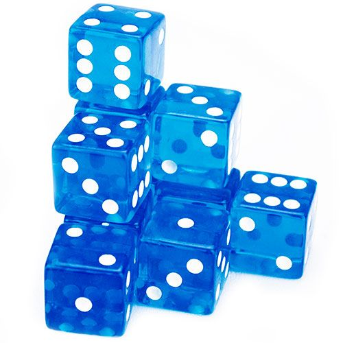 10 Blue 19mm Dice