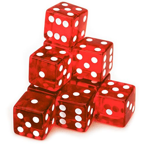 10 Red 19mm Dice