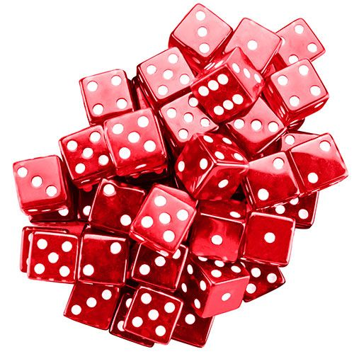 25 Red 19mm Dice
