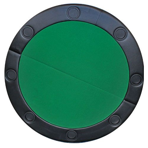 """48"""" Round Poker Table Top w/ Padded Rail - Green"""