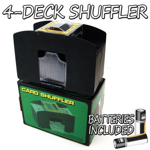 4 Deck Playing Card Shuffler with Batteries