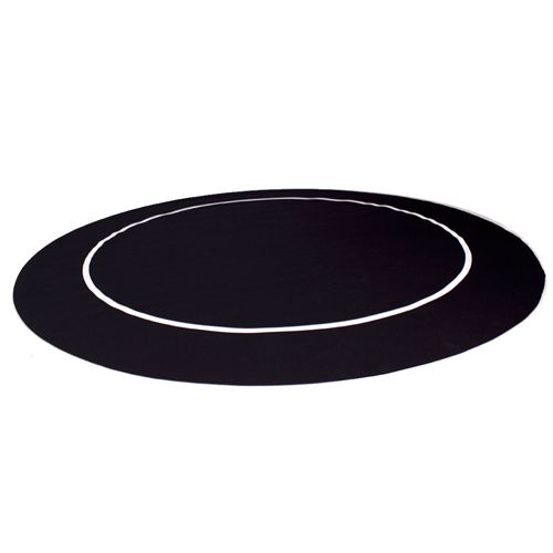 54'' Black Sure Stick Poker Table Layout with Rubber Grip