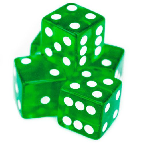 5 Green 19mm Dice