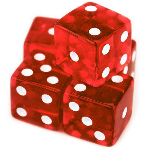 5 Red 19mm Dice