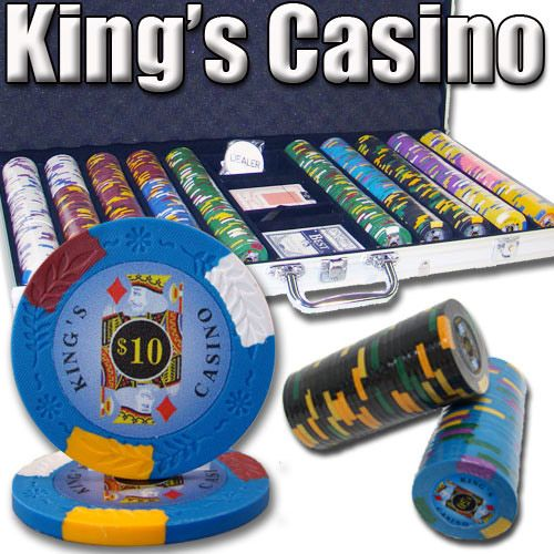 King's Casino 14 Gram Clay Poker Chips in Aluminum Case - 750 Ct.