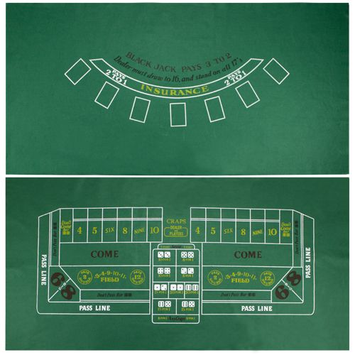 Blackjack and Craps Felt Layout