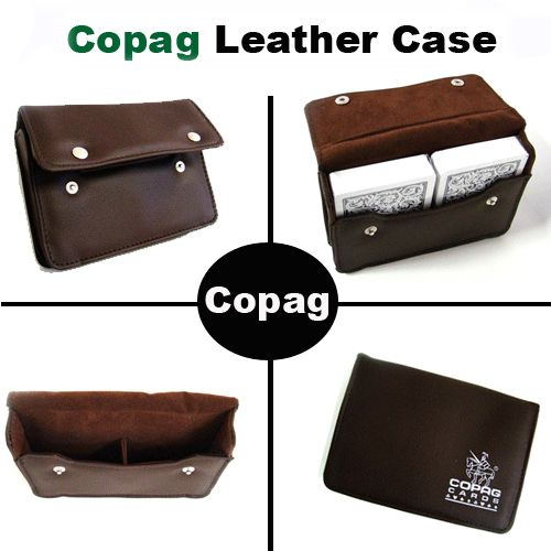 Copag Leather Case - Holds 2 Decks