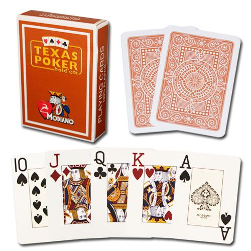 Modiano Texas Poker Brown Poker Size Jumbo Index Single Deck