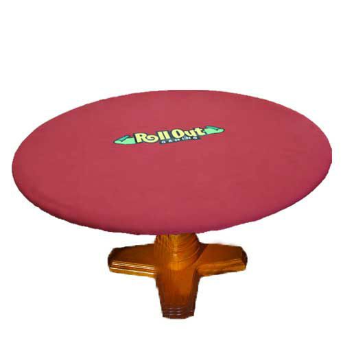 Rollout Gaming Red/Green Neoprene Playing Surface - Round