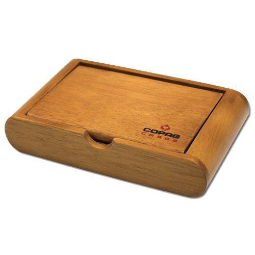 Copag Wooden Playing Card Box - Holds Two Decks