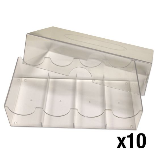 Poker Chip Storage Box - Holds 100 Chips -  Pack of 10
