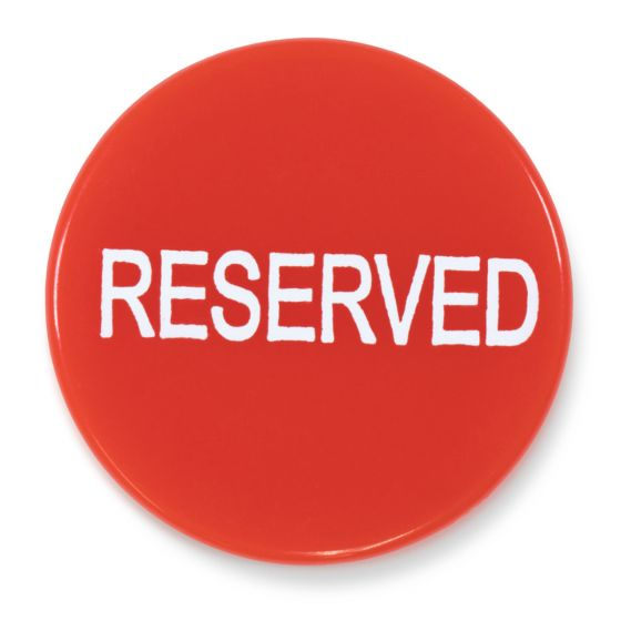Reserved Button For Poker Games