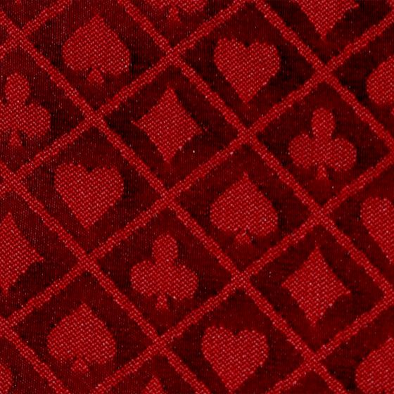 1 Foot Roll of Red Two-Tone Poker Table Speed Cloth