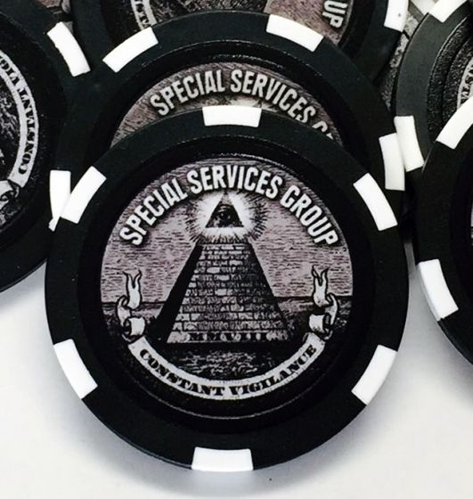 11.5 Gram Prestige Series All-In Custom Poker Chip Sample Pack - 7 chips