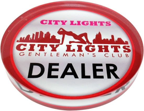 Crystal Acrylic Poker Dealer Buttons - 3.18 Inch - Custom With Your Image