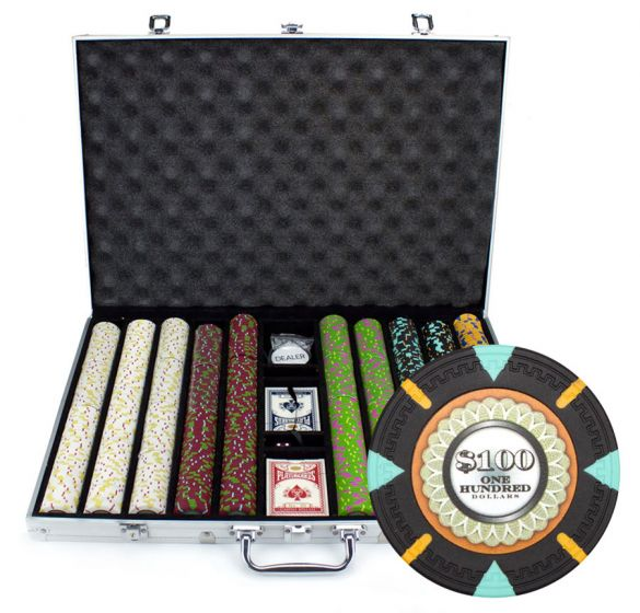The Mint 13.5 Gram Clay Poker Chips in Standard Aluminum Case - 1000 Ct.