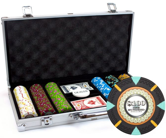 The Mint 13.5 Gram Clay Poker Chips in Standard Aluminum Case - 300 Ct.
