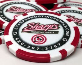 11.5 Gram 8 Stripe Custom Inlay Poker Chip Sample Pack - 7 chips