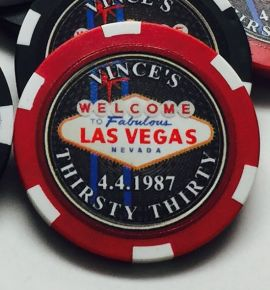 All-In Las Vegas Custom Poker Chip