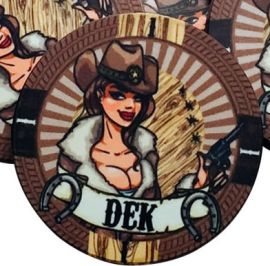 10 Gram Ceramic Custom Poker Chips - Semi Custom - Cowgirl