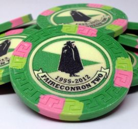 10 Gram Great Wall Custom Inlay Clay Poker Chip Sample Pack - 7 chips