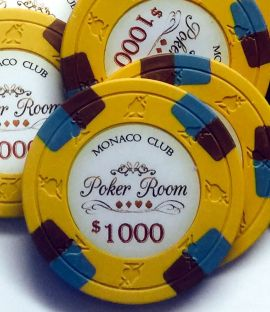 Monaco Club 13.5 Gram Poker Chip Sample Pack - 12 Chips