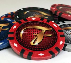 Prestige Series 13 Gram Infinity Clay Custom Poker Chip Sample Pack - 9 chips
