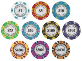 Monte Carlo 14 Gram Poker Chip Sample - 10 Chips