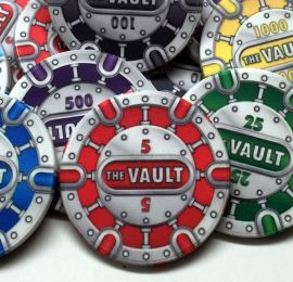 The Vault Series 10 Gram Ceramic Custom Poker Chip Sample Pack - 8 chips