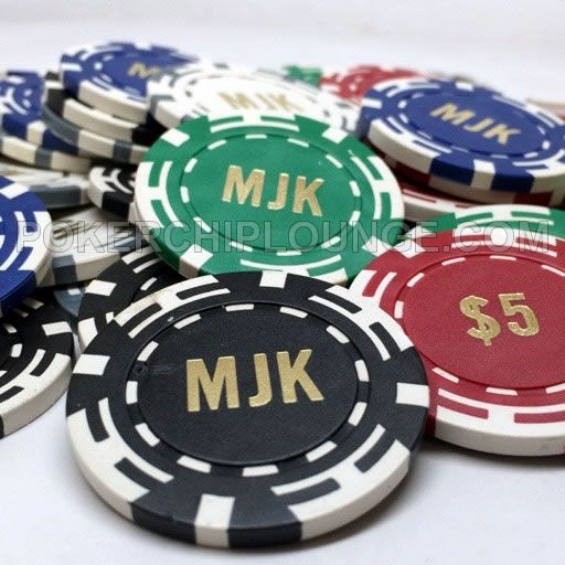 Custom Hot Stamped Poker Chips - 11.5 Gram Four I Chip - Letters & Denominations