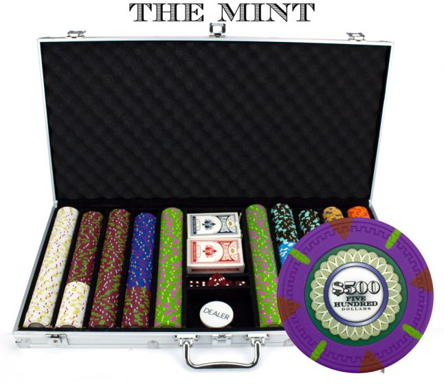 The Mint 13.5 Gram Clay Poker Chips in Aluminum Case - 750 Ct.