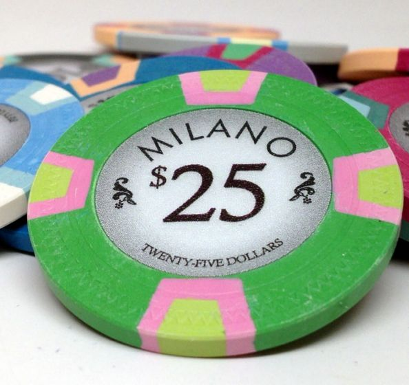 Milano 10 Gram Clay Poker Chips