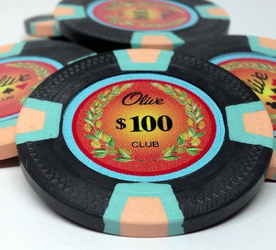 10 Gram Prestige Series Trapezoid Clay Custom Poker Chip Sample Pack - 6 chips
