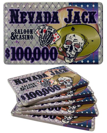 Nevada Jack 40 Gram Ceramic Poker Plaques - $100000