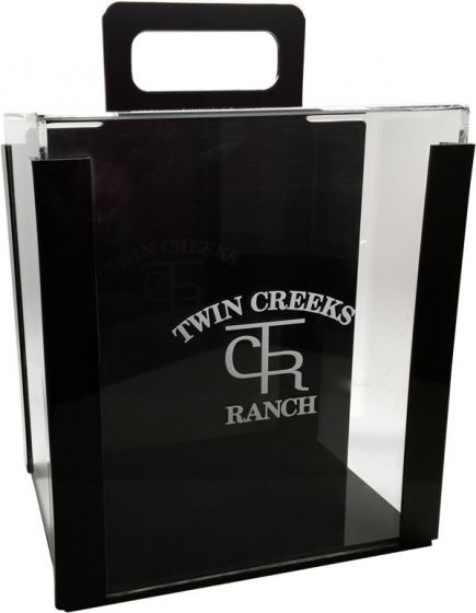 Engraved Acrylic Poker Chip Carrier
