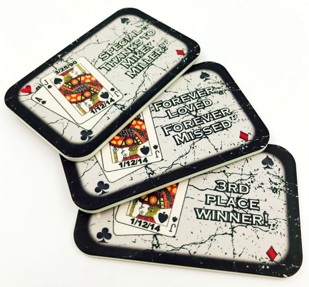 Custom Ceramic Poker Plaques - Charity