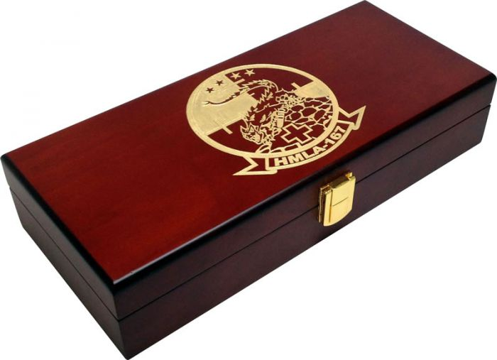 100 Capacity Mahogany Wood Poker Case With Gold Color Fill - HMLA Design
