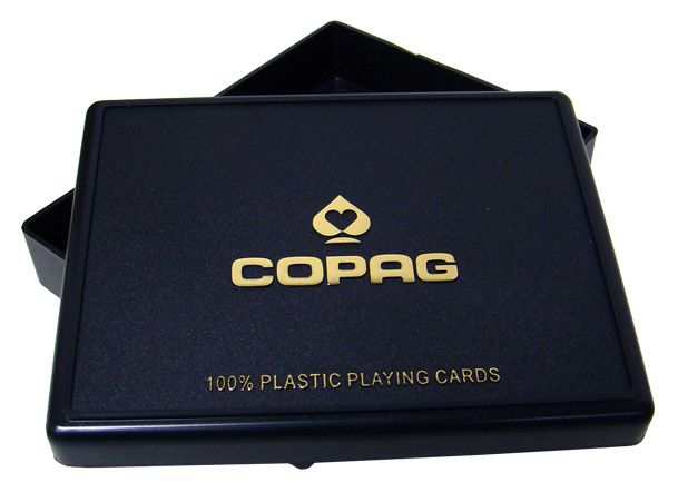 Copag Plastic Playing Card Case - Poker Size Two Deck Set Holder